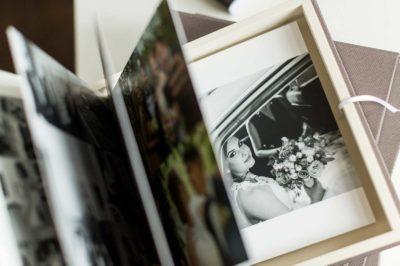 Album foto de nuntă cu cutie