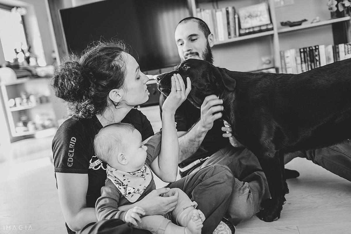 Familie cu câaine la ședința foto în Cluj-Napoca
