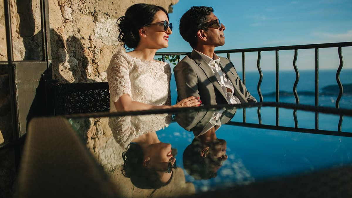 After-wedding photo session on French Riviera – Côte d'Azur