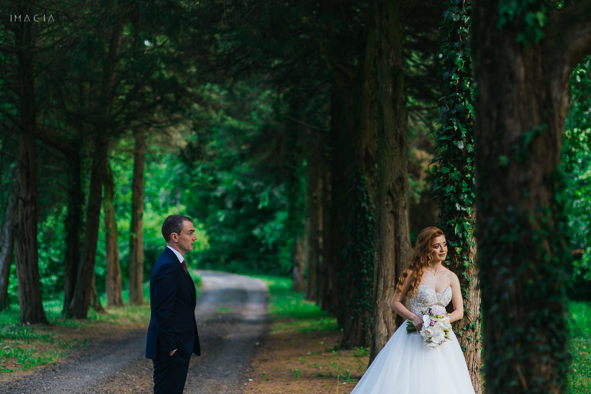Mire și mireasă la ședința foto la Palatul Știrbey cu fotograful de nuntă IMAGIA